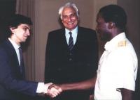 Pannella e Negri incontrano il presidente del Burkina Faso Thomas Sankara.