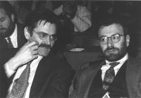 ritratto di Willer Bordon (PCI) (a sinistra) (BN)