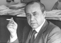 ritratto di Leonardo Sciascia. Scrittore e ex deputato radicale (BN)