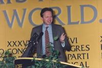 ritratto di Mario Segni che parla dalla tribuna del 36° congresso del PR II sessione.  1170bis e ter