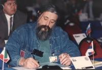 ritratto di Lajos Balla (serbia) deputato, presumibilmente durante una riunione del Consiglio Federale del PR.