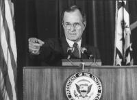 ritratto di George Bush  presidente USA  (BN)