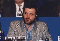 ritratto di Mamuka Tsagareli (Georgia), nel corso di una riunione del Consiglio Federale del PR.