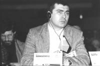 ritratto di David Bashaleishvili (Georgia) deputato, membro del Consiglio Federale del PR.