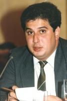 ritratto di Etibar Mamedov, membro di diritto del Soviet Supremo dell'URSS, membro del Consiglio Federale del PR.