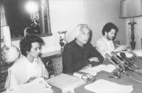 Conferenza stampa di Pannella all'Hotel Minerva, in digiuno, Bonino e Taradash (BN)