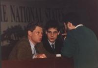 ritratto di Gianfranco Dell'Alba e Olivier Dupuis. (non molto buona), in occasione del 34° Congresso del PR.