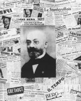 ritratto di Lejzer Zamenhof (creatore dell'esperanto) ed una serie di giornali in varie lingue. (BN)