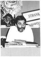 Consiglio Federale, I sessione, ritratto di Ivan Zvonimir Cicak (Croazia) (BN)