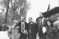 """""""Daniela Giglioli (a destra) tesoriera dell'Era (1997), Giorgio Pagano (segretario Era), Ada Fighiera Sikorska (a sinistra) direttrice """"""""Heraldo de es"""