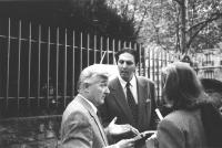 Giorgio Pagano e Josph Poth, esperto linguistico UNESCO in occasione della manifestazione esperantista in occasione della conferenza internazionale de