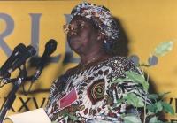 ritratto di Fambaye Fall Diop (Senegal) deputata, al 36° congresso PR I sess. 1432bis