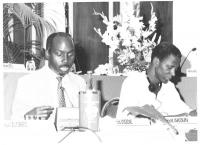 Consiglio Federale, I sessione, ritratto di Francis Wodie e Laurent Akoun, entrambi deputati della Costa D'Avorio, (BN)