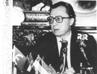 ritratto di Jacques Delors, presidente della Commissione europea (BN)