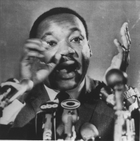 ritratto di Martin Luther King (BN)
