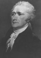 ritratto di Alexander Hamilton (uno dei padri fondatori degli Stati Uniti d'America)