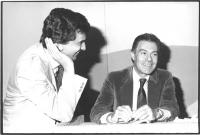 Giovanni Negri e Gaetano Azzolina (cardiochirurgo, nella X legislatura deputato radicale). (BN)