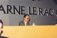 ritratto di Alessandro Tessari, al 32° Congresso del PR.