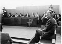 Aula di un tribunale. Processo a Pannella per reati di opinione (BN) ottima [provini in 2530]