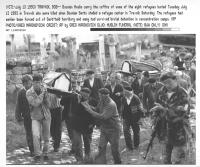 funerale mussulmano bosniaco (BN) foto d'agenzia