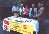 tavolo raccolta firme a Vitorchiano