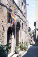 La bandiera del Tibet sventola in permanenza dal 10 marzo 1996 all'ingresso della sede di Azione Radical Socialista a Vitorchiano