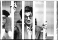 """""""Tony Negri dietro le sbarre durante il processo """"""""7 aprile"""""""" (BN). Tutte le altre foto di Tony Negri nelle altre"""""""