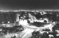 vista notturna dall'alto di Bagdad (BN)