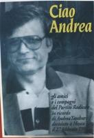 foto del manifesto del PR in ricordo di Andrea Tamburi (militante storico) deceduto (poi si scoprirà ucciso) a Mosca il 27 feb 1994