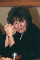 """""""Ritratto di Hedy D'Ancona (europarlamentare del Labour Party (UK)) presentatrice della mozione per la legalizzazione delle droghe leggere e somminist"""