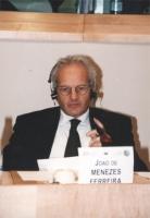 """""""Ritratto di Joao De Menezes Ferreira (deputato al Parlamento, Portogallo). Convegno del Cora al PE: """"""""Le iniziative antiproibizioniste nonviolente e"""