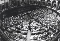 Aula del Parlamento vista dall'alto (BN) 1722bis: L'aula, vista sempre dall'alto, da una diversa angolazione (BN)