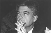 Ritratto di Claudio Martelli (PSI). 36° congresso I sessione (BN). Nelle altre i ritratti di Martelli