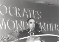 Ritratto di Franco Carraro (Sindaco di Roma PSI). 36° congresso II sessione (BN)