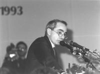 Ritratto di Giuliano Amato (Presidente del Consiglio PSI). 36° congresso II sessione (BN)