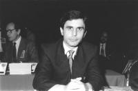 Ritratto di Agim Fazlin (Macedonia). 36° congresso II sessione (BN)