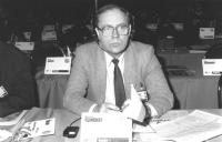 Ritratto di Stanislav Filimonov (Russia) deputato. 36° congresso II sessione (BN)