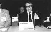 Ritratto di Vasile Mandroviceanu (Romania) deputato. 36° congresso II sessione (BN)