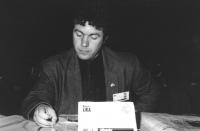 Ritratto di Arben Lika (Albania) deputato. 36° congresso II sessione (BN)