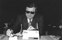 Ritratto di Laszlo Buzas (Romania). 36° congresso II sessione (BN)