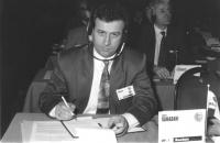 Ritratto di Ismet Ramadani (Macedonia) deputato. 36° congresso II sessione (BN)