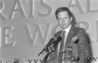 Ritratto di Mario Segni (DC). 36° congresso II sessione (BN)