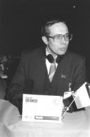 Ritratto di Vladimir Grishkin (Russia) deputato. 36° congresso II sessione (BN)