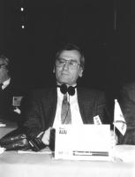 Ritratto di Hamit Aliu (Macedonia) deputato. 36° congresso II sessione (BN)
