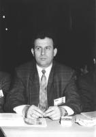 Ritratto di Ismet Ramadami (Macedonia) deputato. 36° congresso II sessione (BN)