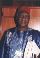 """Ritratto di Amadou Moctar Ndao, (deputato al parlamento senegalese, iscritto TRP '98. Conferenza """"No peace without justice"""" - governo Senegal."""