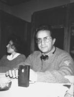 Ritratto di Adolfo Linares, sacerdote spagnolo, membro del Consiglio Federale del PR.  (BN)
