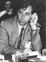ritratto di Gruda Rizah (Serbia) deputato. 36° congresso PR I sessione. (BN)