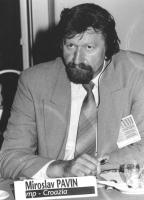 ritratto di Miroslav Pavin (Croazia) deputato. 36° congresso PR I sessione. (BN)