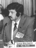 ritratto di Semen Malenkov (Russia) deputato. 36° congresso PR I sessione. (BN)